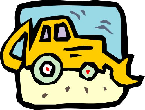 500x381 Backhoe Clip Art Download