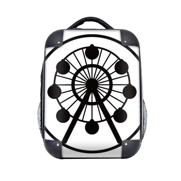 600x600 Ferris Wheel Amusement Park Black Silhouette Hard Case Shoulder