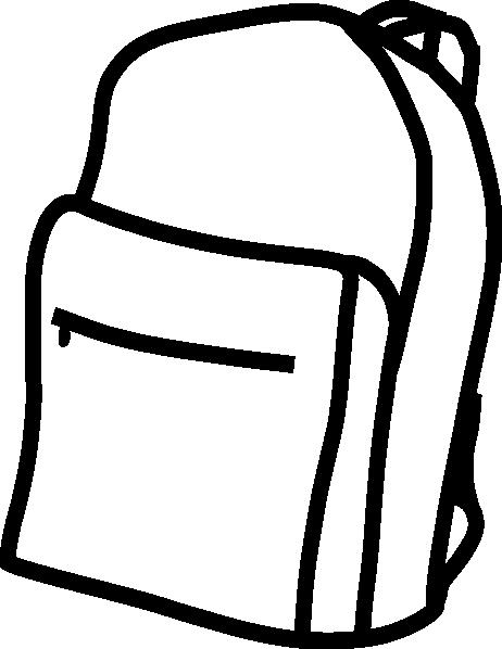 462x598 Backpack Outline Clip Art