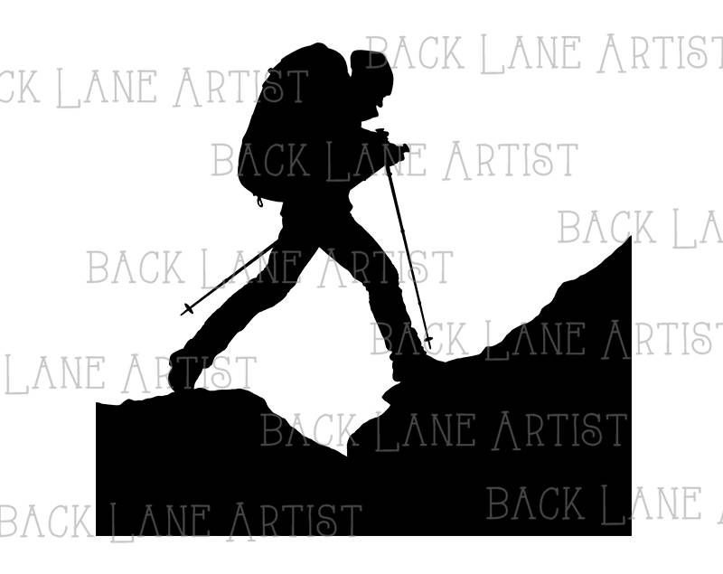 800x635 Backpacker Travelling Traveler Outdoor Trekking Silhouette Clipart