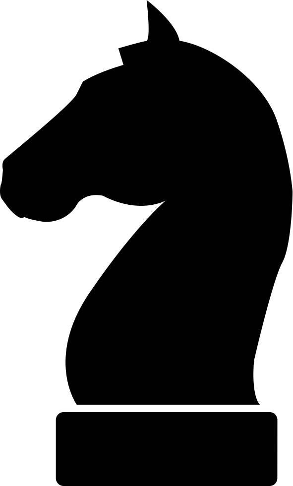 591x980 Horse Black Head Silhouette Of A Chess Piece Svg Png Icon Free