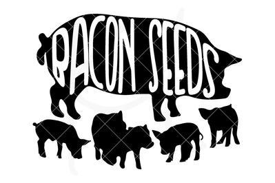 399x266 Bacon Seeds Pig Svg File Kelly Lollar Designs