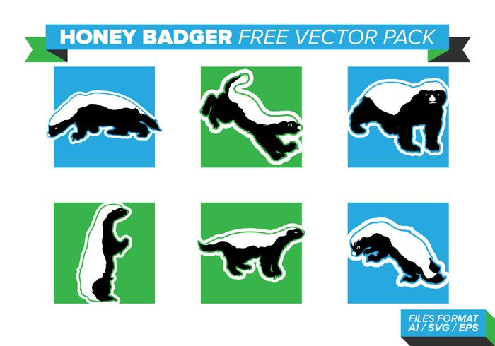 700x490 Honey Badger Free Vector Pack