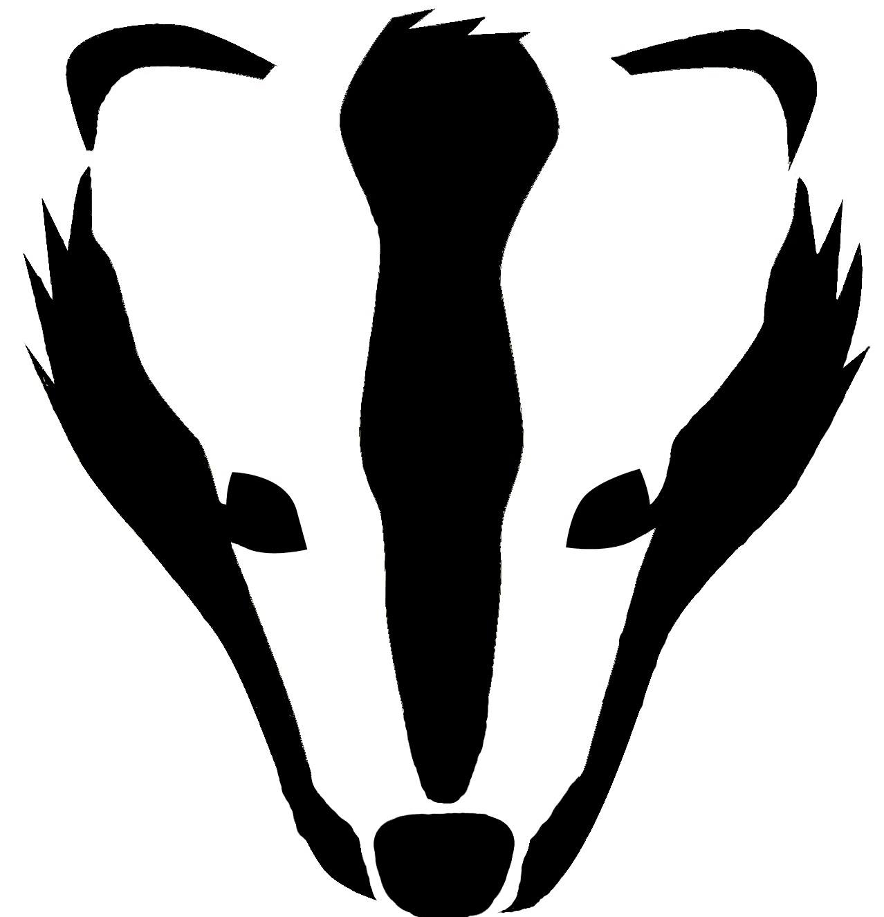 1278x1325 Badger face for pumpkin pumpkin carving patternshaloweencarving