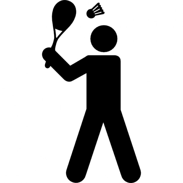 626x626 Badminton Player Icons Free Download
