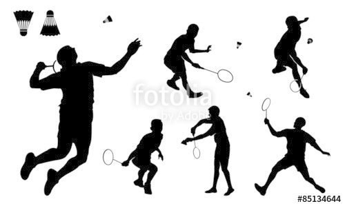 500x299 Male Badminton Player Silhouette Stock Image And Royalty Free