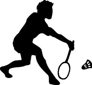 300x280 Badminton Sports Player Silhouette Car Decal Sticker Ebay