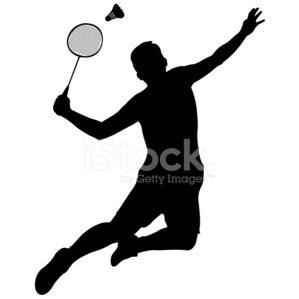 299x299 Badminton Player stock vectors