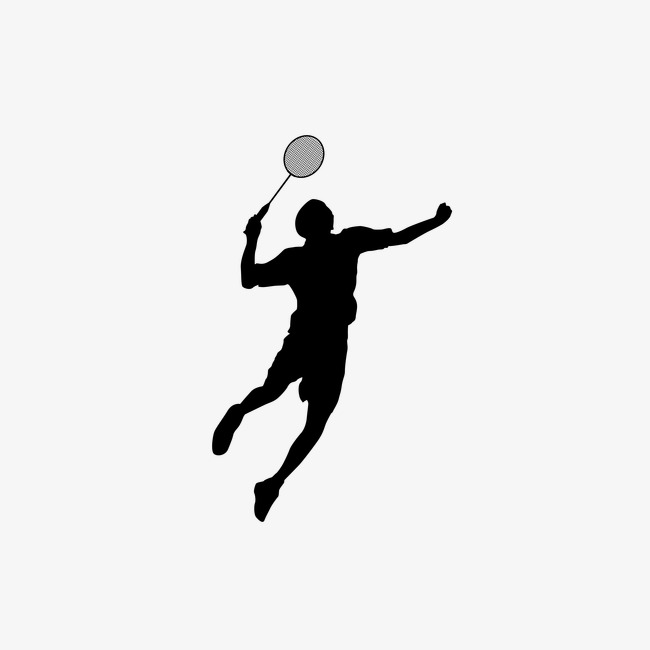 650x650 Badminton Silhouette Figures, Sports, Sketch, Silhouette Figures