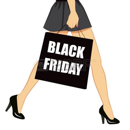 450x450 Black Silhouette Woman Purple Shopping Bag Clipart Walking Collection