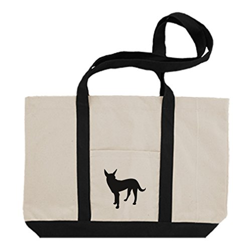 500x500 Cotton Canvas Boat Tote Bag Formosan Mountain Dog Silhouette By