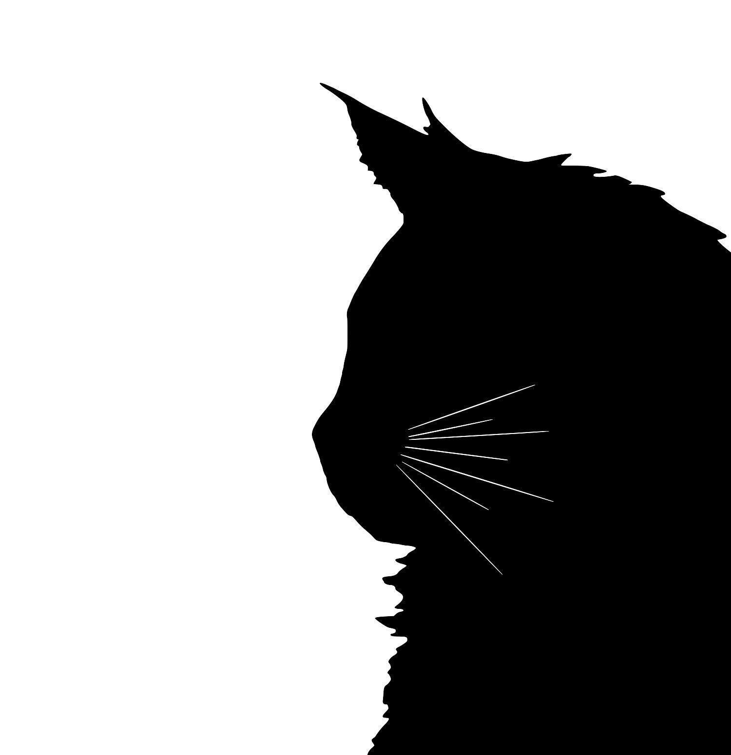 1500x1550 Maine Coon Cat Silhouette Extra Large Reusable Cotton Canvas Tote