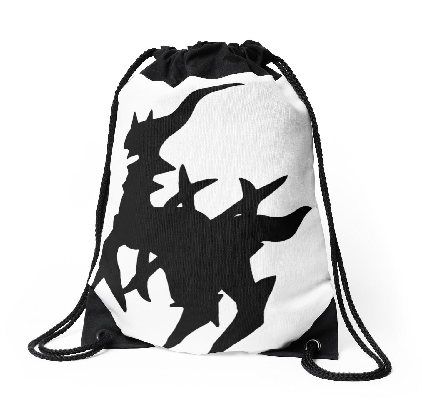 1435x1404 Arceus Silhouette Drawstring Bags By Frankie T Redbubble
