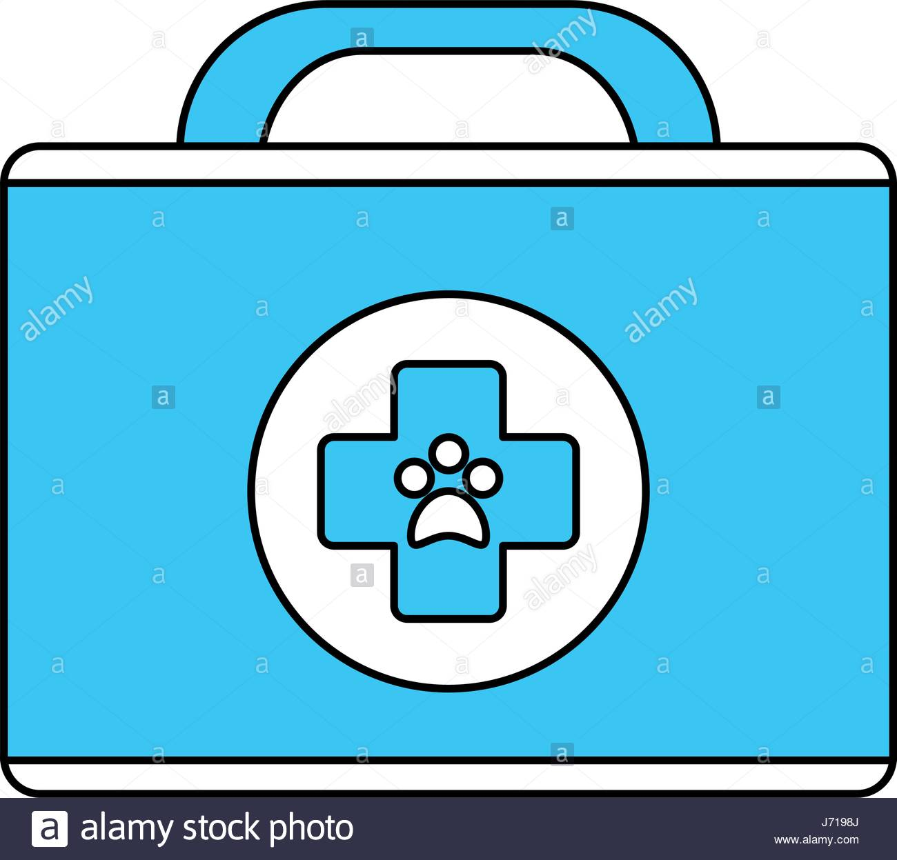 1300x1247 White And Blue Silhouette Of Cartoon Medical Veterinary Bag Stock