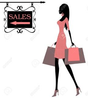 288x320 Black Silhouette Woman Purple Shopping Bag Clipart Fashion