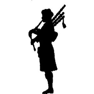Bagpipe Silhouette