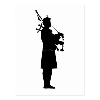 400x400 Bagpipes Silhouette Postcard Zazzle.co.uk