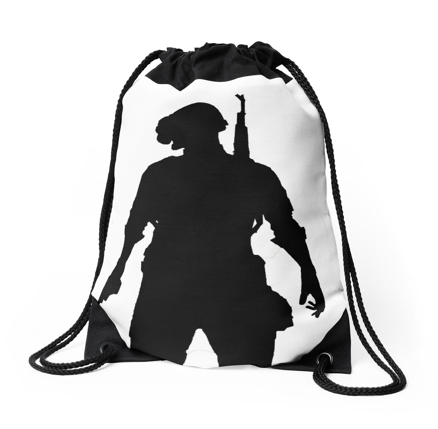 1435x1404 Pubg Silhouette Drawstring Bags By Jillianlamanna Redbubble