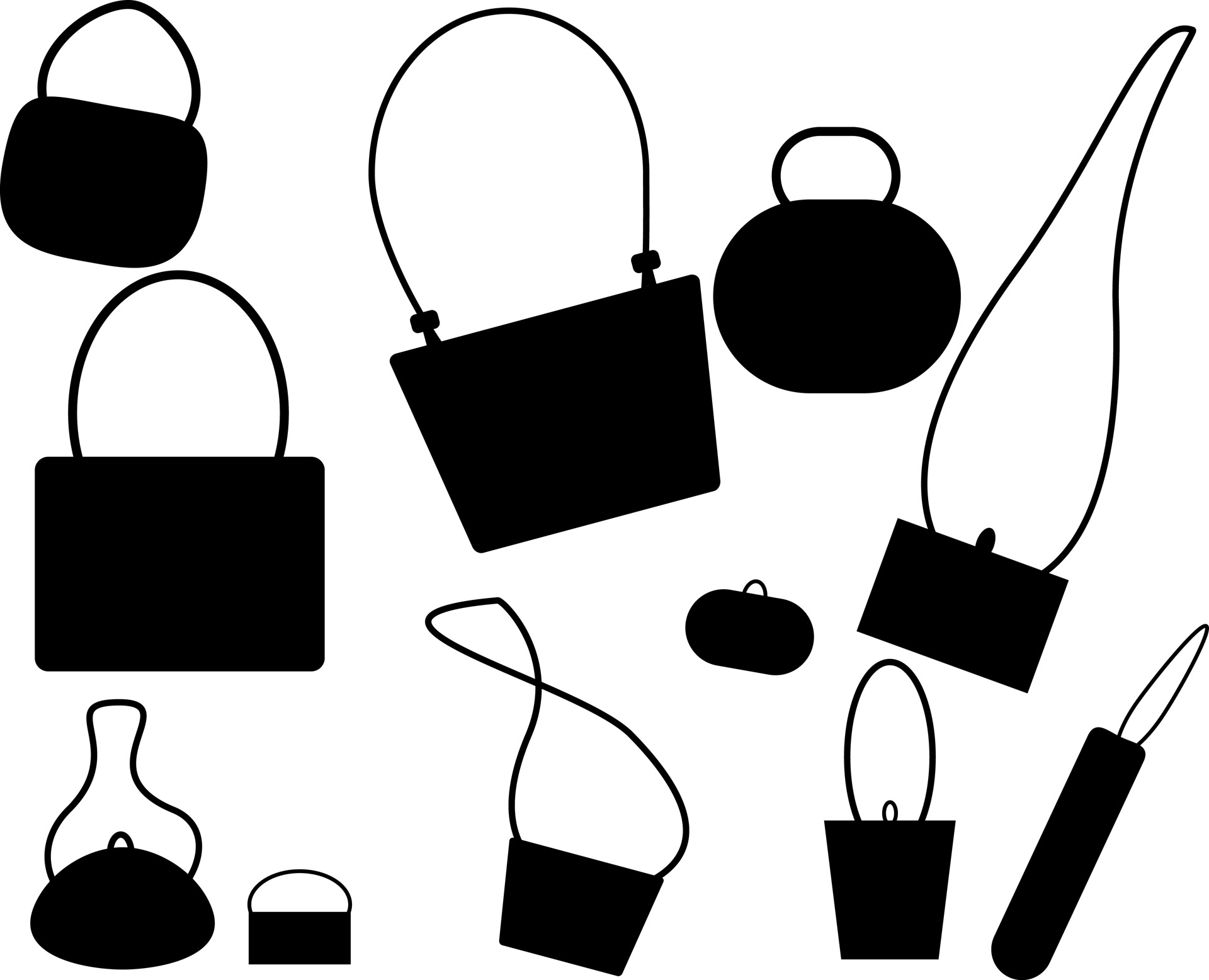 1920x1557 Purses Silhouette Free Stock Photo