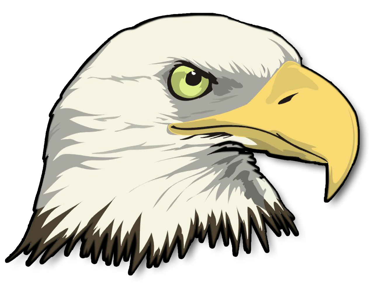 bald eagle head silhouette at getdrawings com free for personal rh getdrawings com clipart eagles clip art eagle head
