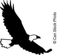 185x179 Bald Eagle Silhouette Sitting. Vector Illustration Eps10 Vector