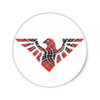 324x324 Eagle Silhouette Stickers Zazzle
