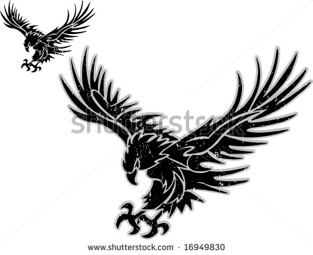 450x367 Eagle Clipart Black Outline Collection