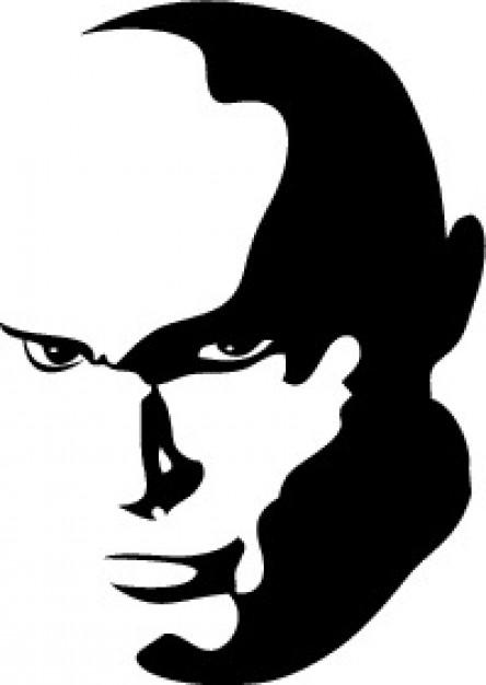 444x626 Bald Man Portrait Monochrome Vector Pumpkin Faces
