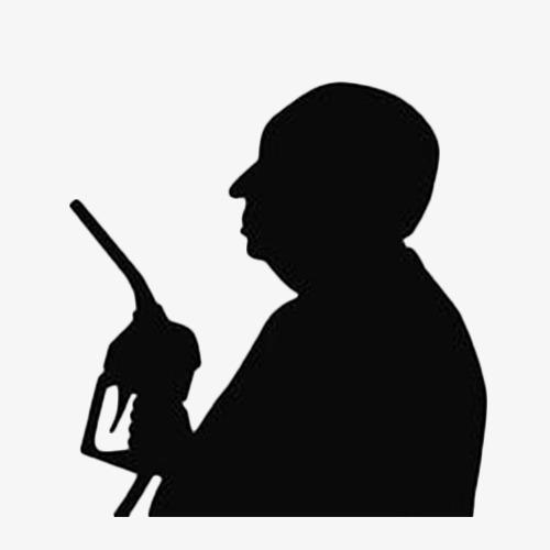 500x500 Black Man Side Face, Black, Pistol, Bald Head Png Image