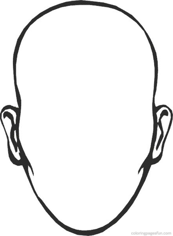 586x800 Blank Face Coloring Page