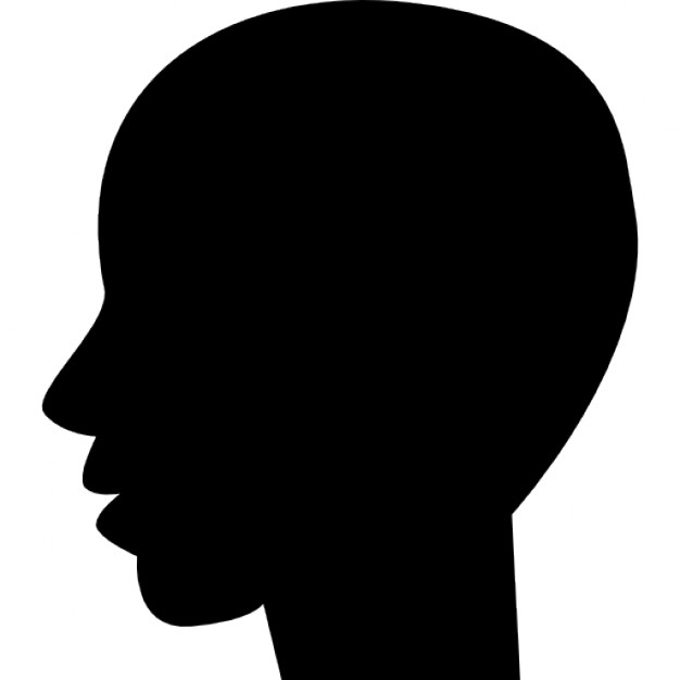 626x626 Man Black Bald Head Shape From Side View Icons Free Download
