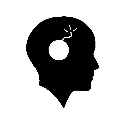 512x512 Bald Head With A Bomb Free Icon Icon Typography