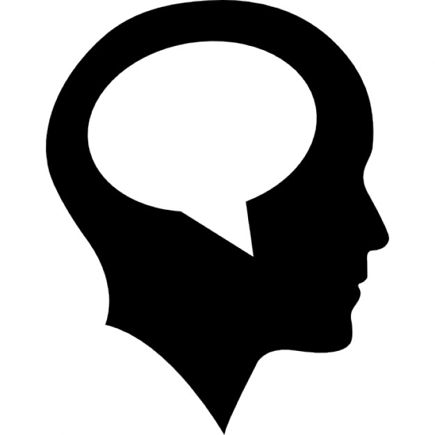 626x626 Bald Head With Speech Bubble Inside Icons Free Download