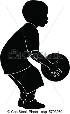 290x470 Playing With Ball, Silhouette Vector Clip Art Vector