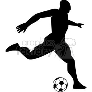 300x300 Royalty Free 2532 Royalty Free Silhouette Soccer Player With Ball