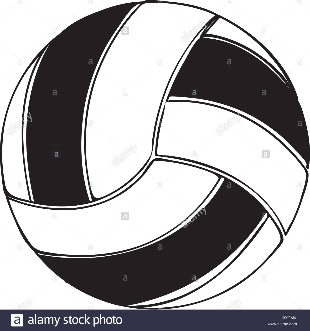 1300x1388 Black Silhouette Volleyball Ball Element Sport Stock Vector Art
