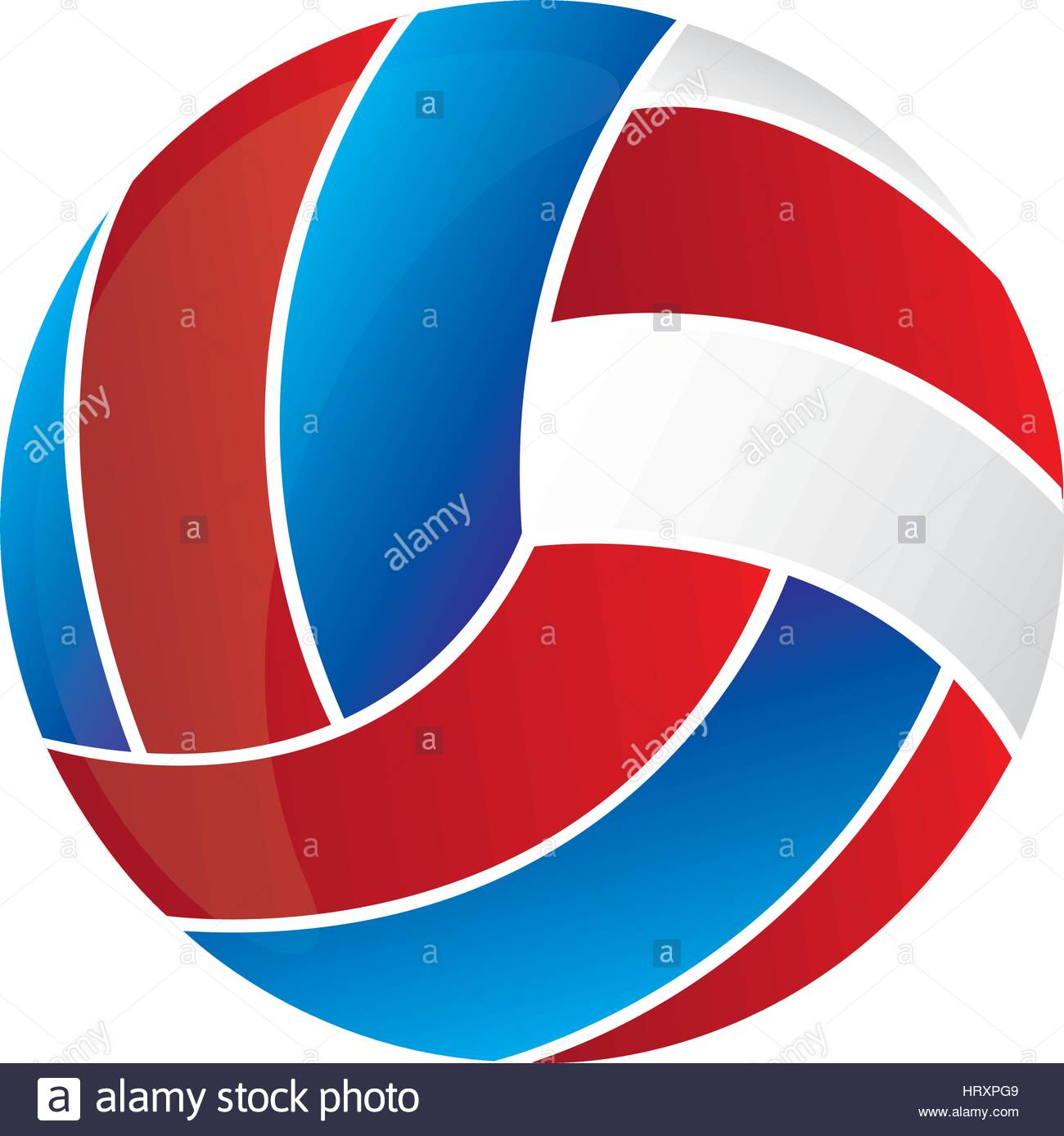 1300x1388 Colorful Silhouette With Volleyball Ball Vector Illustration Stock