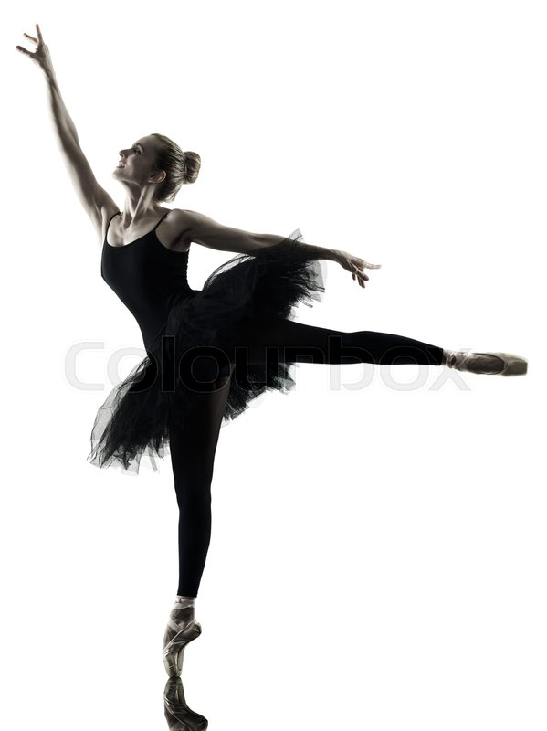 599x800 One Caucasian Woman Ballerina Dancer Dancing Isolated On White