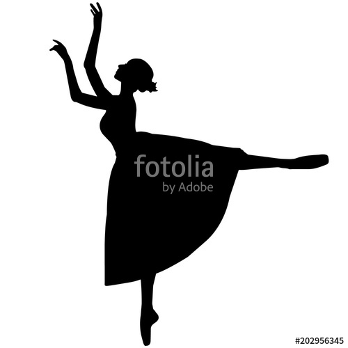 500x500 Ballerina Dancer Silhouette, Ballet Dance Clipart, Ballerina