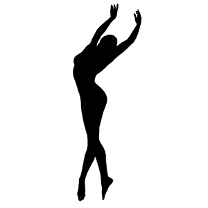 300x300 Dancing Woman Silhouette Clipart, Cliparts Of Dancing Woman