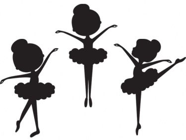 375x281 Silhouettes Of 3 (From The 5) Basic Ballet Positions (1, 2 And 5