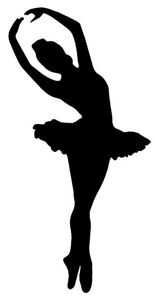 318x606 Ballet Dancer Ballerina Girl White Sticker Decal Arts