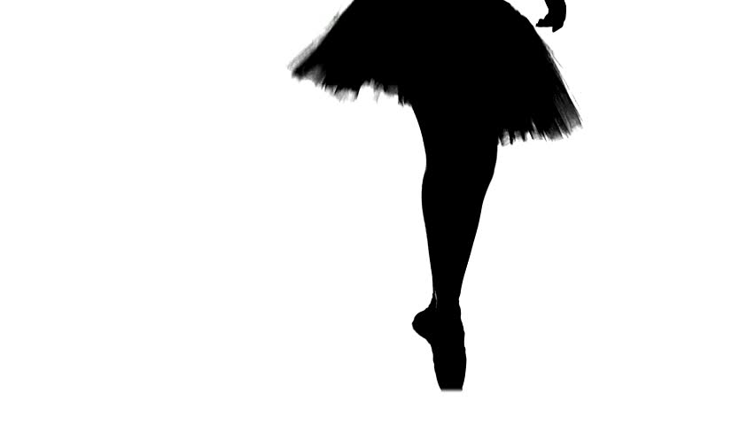 852x480 Silhouette Ballerina Dancing, Closeup On Legs And Shoes, Standing