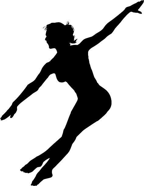 474x613 Female Dancer Silhouette Die Cut Vinyl Decal Sticker. You Pick