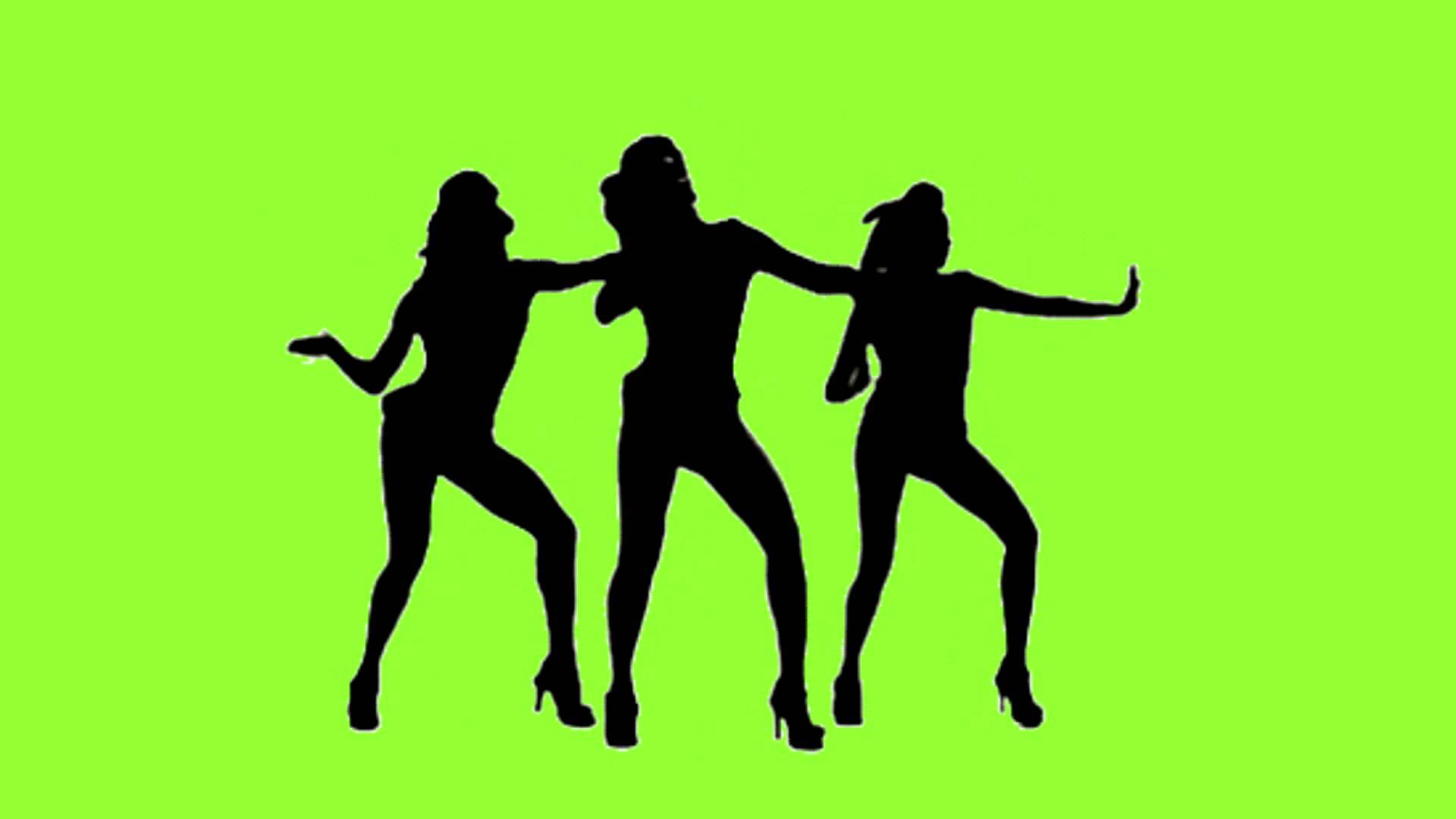 1920x1080 Shadow Girls Dancing Green Screen