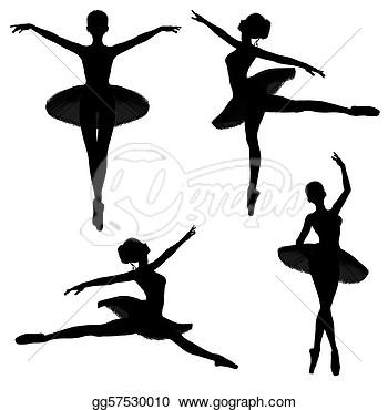 350x370 Drawn Ballerina Silhouette