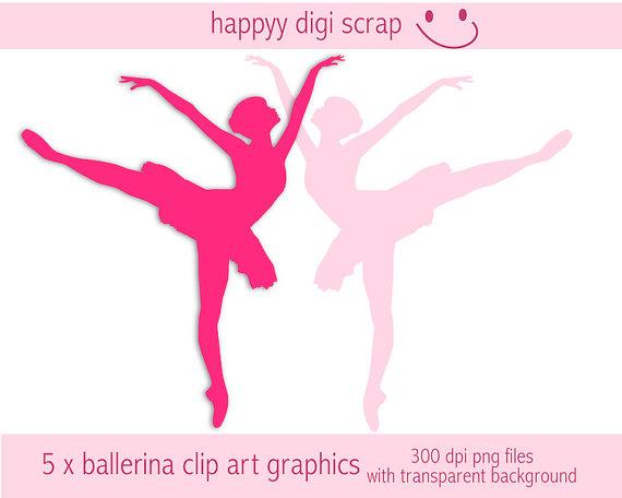 570x456 Ballerina Clipart Instant Download Ballet Dancer