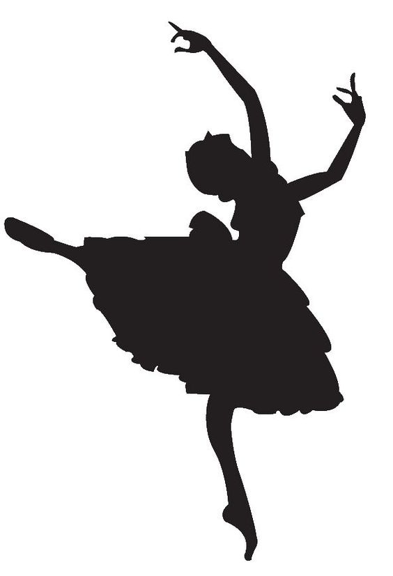 Ballerina Silhouette Template at GetDrawings.com | Free for personal ...