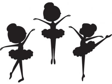 375x281 Silhouette Ballerina Clip Art Meylah Cards