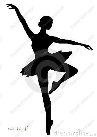 318x450 Silhouettes For The Paper Snowflake Ballerinas. The Silhouette